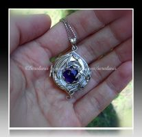 'Dragon spellbook' sterling silver pendant SOLD by seralune