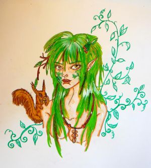Redraw Dryad by chaosqueen122