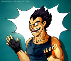 Vegeta smiiiile by ginkoflowers