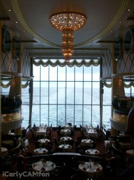 Dining hall on a cruise ship by iCarlyCAMfan
