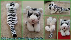 SOS Leosco White Tiger Cub 9in by Vesperwolfy87