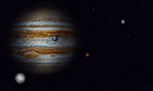 Jupiter with some moons by Johndoop