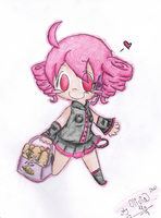 Teto with her bread by GreenSpiralCat
