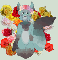 flowers by psychoticpup