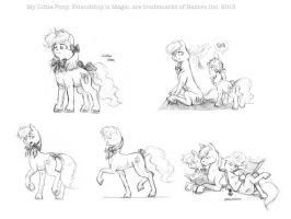 Sketches: Ribbons and bows by Baron-Engel
