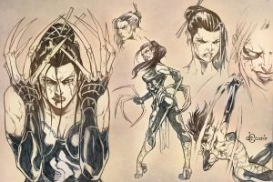 Sketchbook - Deathstrike by AenTheArtist