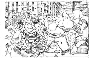 THING vs HULK by Wieringo