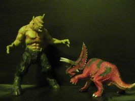 Random beast battle #2: Cyclops vs. Pentaceratops by RMC1618