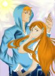 ichigo and orihime with color by orihime22