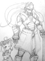 The Child and the Guardian by HaruCore