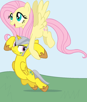 Steelshine and Fluttershy by DreamsandPassion