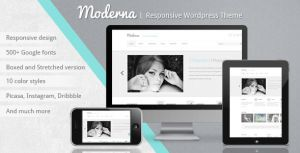 Moderna responsive WP Theme by pixel-industry