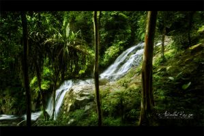 Waterfall - Langkawi by PhiloGraphic