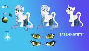 Frosty - Oficial OC reference sheet by Nathy2001