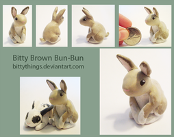 Bitty Brown Bun-Bun - SOLD by Bittythings