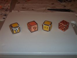 Mario Game Block papercraft by AUSTINMEADOWS