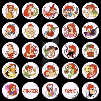 Ginger Pride Buttons by Anamated