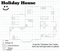 Sims Blueprint: Holiday House by BandGeek-16