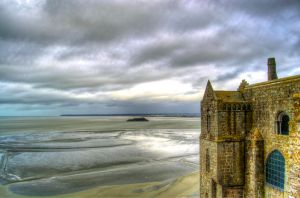 View from Mont-Saint-Michel by kakobrutus