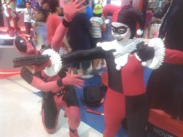 Deadpool and Harley Quinn by thereanimatedunknown