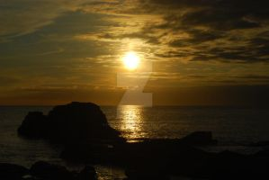Jacobs Sunset Cornwall by thelongwayround