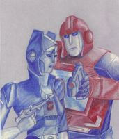 Ironhide and Chromia by Kryschenn