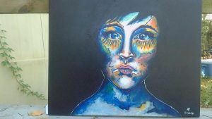 Originial Painting - Earth's Child - Acrylics by lyssagal