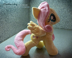 Fluttershy Plush by Wolflessnight