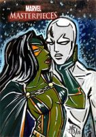 silver surfer and gamora by mainasha
