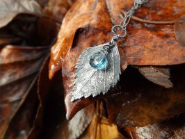 Betula, Birch- London Blue Topaz Pendant by QuintessentialArts