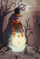 Mad Snowman by tadziad