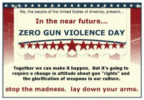 Zero Gun Violence Day by Pooleside
