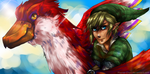 Link and his Loftwing by Pharos-Chan