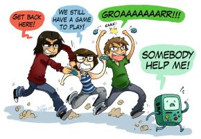 Furious gamers. by lunaticpaw