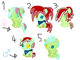 MLP|Foals|Berry Soundwave x Minty Phresh Fizz|OPEN by cheesepuff2