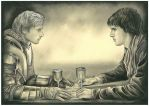 Arthur and Merlin by ebe-kastein