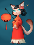Lantern Kitty by aketan
