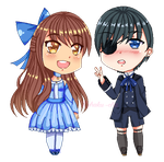 Raina and Ciel by Kohaku-chii