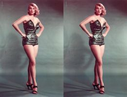 Anita Ekberg Shiney Swimsuit 3d full by 3dpinup