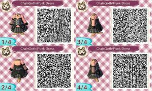 AC:NL QR Chain Goth Punk Dress by Kon13