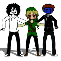 JTK, BEN + Eyeless Jack Dance (GIF) by HIDDEN-being