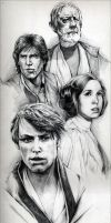 SW A New Hope Poster I by leiaskywalker83