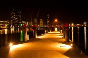 Night: Docklands Pier by DanielleMiner