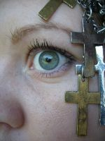 Eye stock with cross by candy-lace-stock