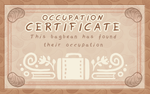 Occupation Certificate by griffsnuff