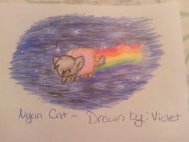 Nyan cat by Violetkay214