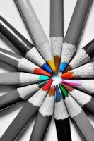 Splash of colour - Pencils 1 by Laura-in-china