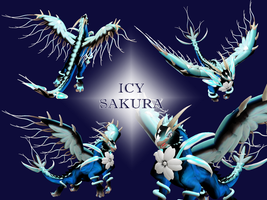 SPORE Dragon - Icy Sakura by swordxdolphin
