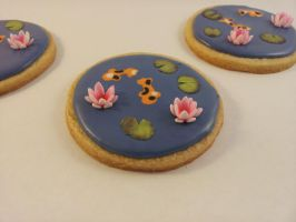 Water Lily Sugar Cookies by GingerNins