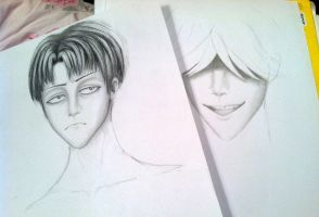 Levi and Undertaker-(works in progress) by TheUndertakersKitty